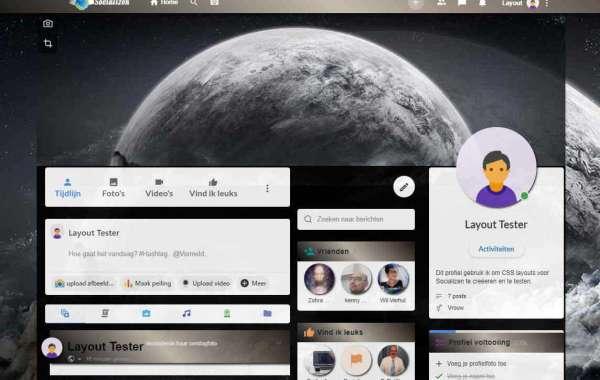 'Black moon' CSS layout voor jouw profielpagina