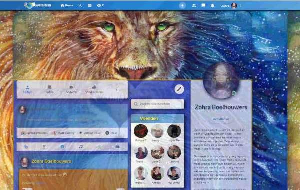 'Lion' profiel layout voor Socializen