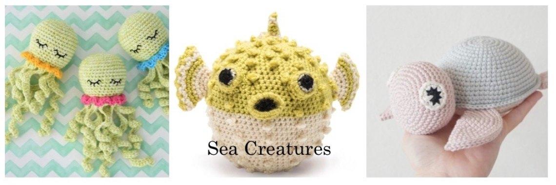 Gratis haakpatronen zeedieren - Crea met Kids