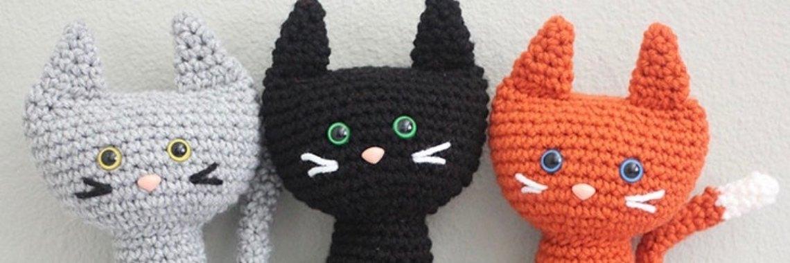 Gratis haakpatroon katten (Repeat Crafter Me) | gratis haakpatronen | katten | knuffels | haken | gratis haakpatroon | dieren | huisdieren | katjes