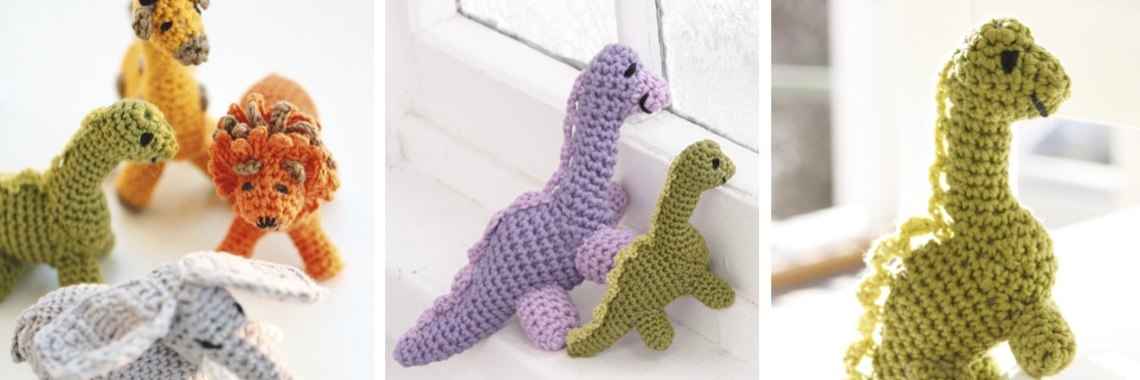 Gratis haakpatroon dinosaurus - Crea met Kids