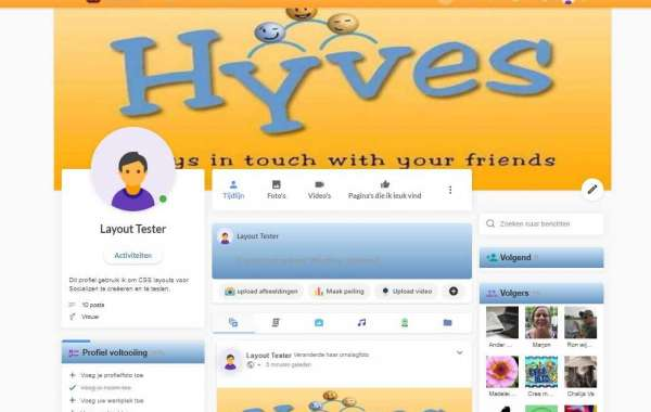 Socializen Hyves layout
