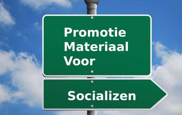 Promotie materiaal om socializen meer bekendheid te geven