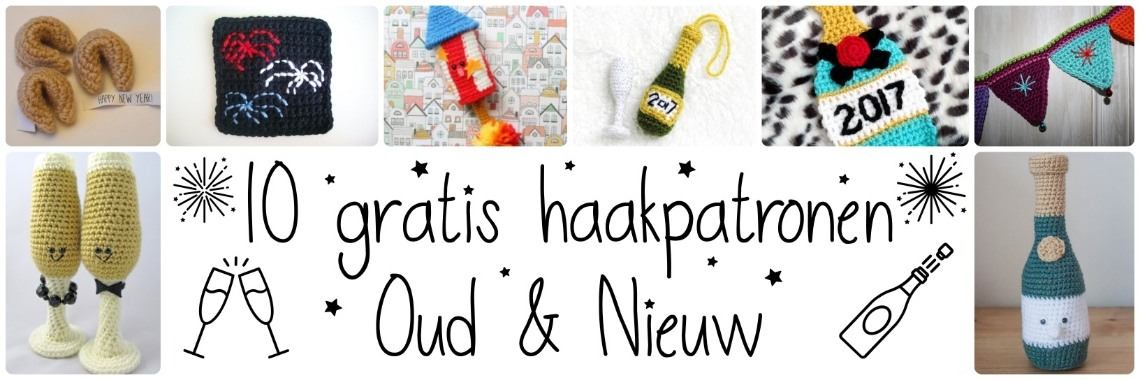 De 10 leukste én GRATIS Oud & Nieuw haakpatronen   gratis haakpatronen   oud en nieuw   haakpatroon