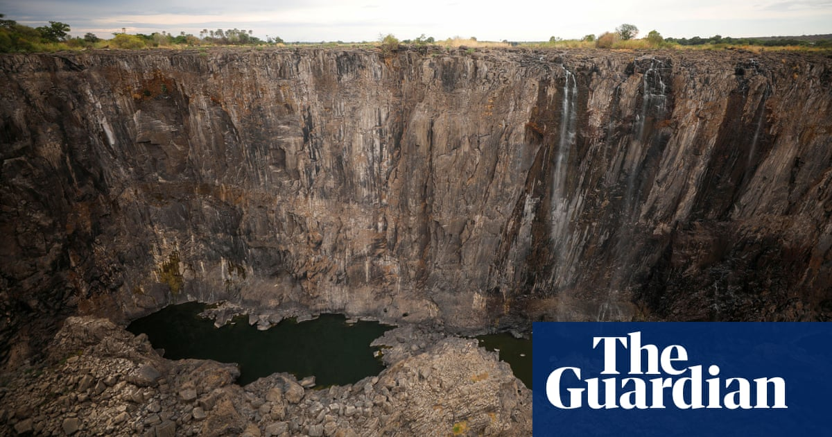 Victoria Falls dries to a trickle after worst drought in a century   World news   The Guardian