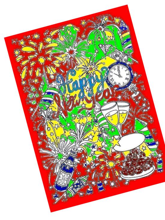 Blockposter voor 15 of 26 personen Happy Newyear » Crea met kids