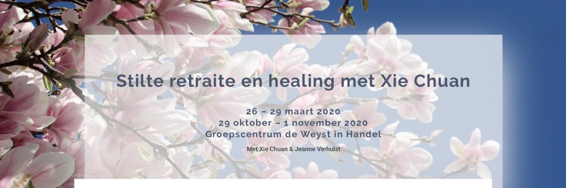 Stilte Retraite en Healing met Xie Chuan | stilte | retraite | healing | chiqong | Xiechuan | groepscentrum | deweysthandel