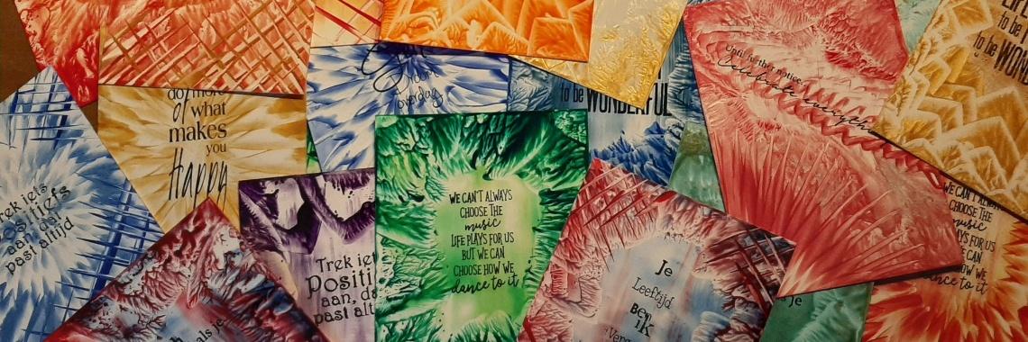 Kaartjes, kaartjes, kaartjes..... werkjes van de dag 9-2-2020 | encaustic | encausticart | stempelen | mixedmedia | urbancommunitystore | kaartjes | wenskaarten | teksten | cards | kaartenmaken | zelfkaartjesmaken
