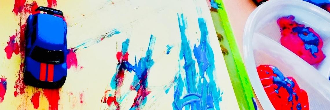 Auto's verfkunst » Crea met kids