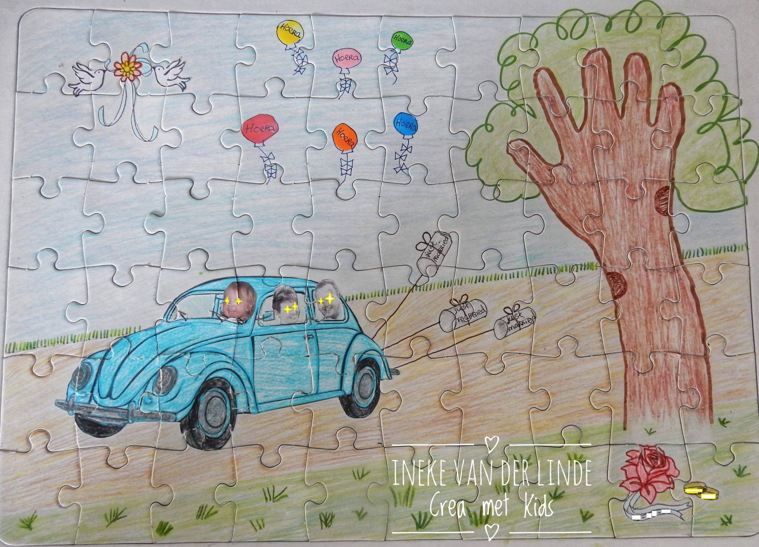 Puzzel maken voor een trouwcadeau of verjaardag - Collall » Crea met kids