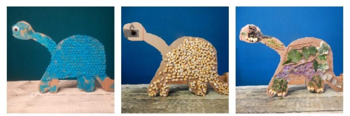 Dino' s knutselen op 3 verschillende manieren  | dino | knutselen | creatief | creametkids | Mirelle-Creametkids