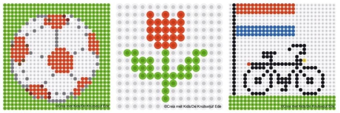 Strijkkraalpatronen Nederland  | strijkkralen | knutselen | nederland | nederlandsevlag | roodwitblauw | De Knutseljuf Ede