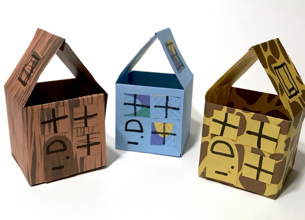 Eenvoudige huisjes vouwen » Crea met kids