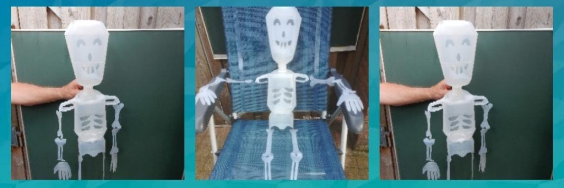 Zelf een skelet maken van melk jerrycans  | menselijk | knutselen | creatief | creametkids | menselijklichaam | Mirelle-Creametkids