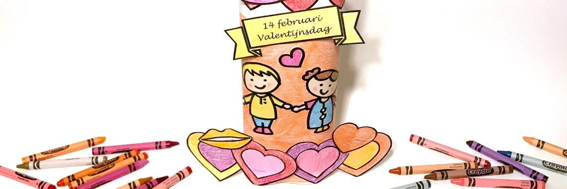 Valentijnsdag knutselen - met knipplaat voor...  | valentijn | valentijnsdag | knutselen | De Knutseljuf Ede ✂️