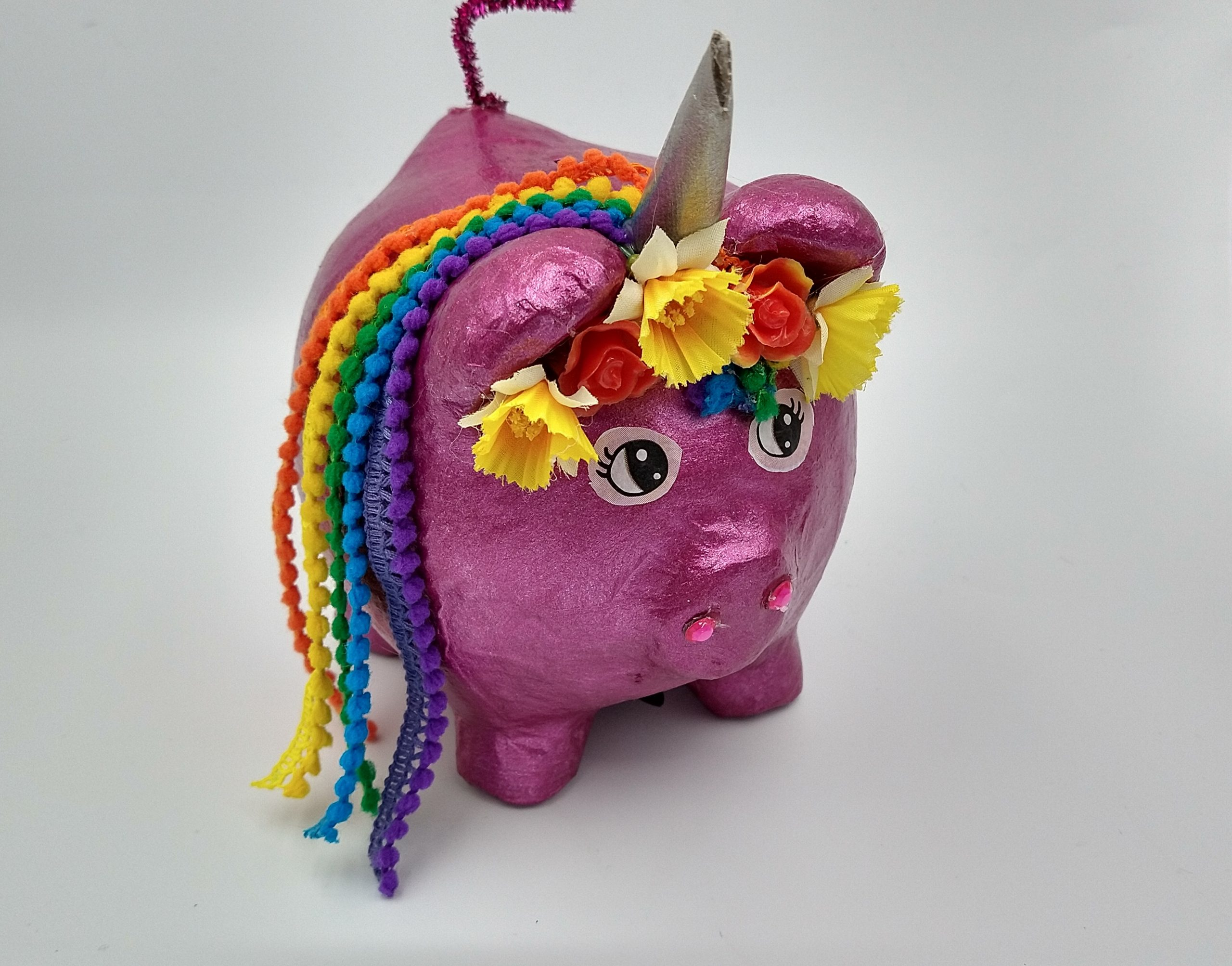 Unicorn spaarvarken oppimpen » Crea met kids